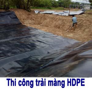 Thi công trải màng chống thấm HDPE